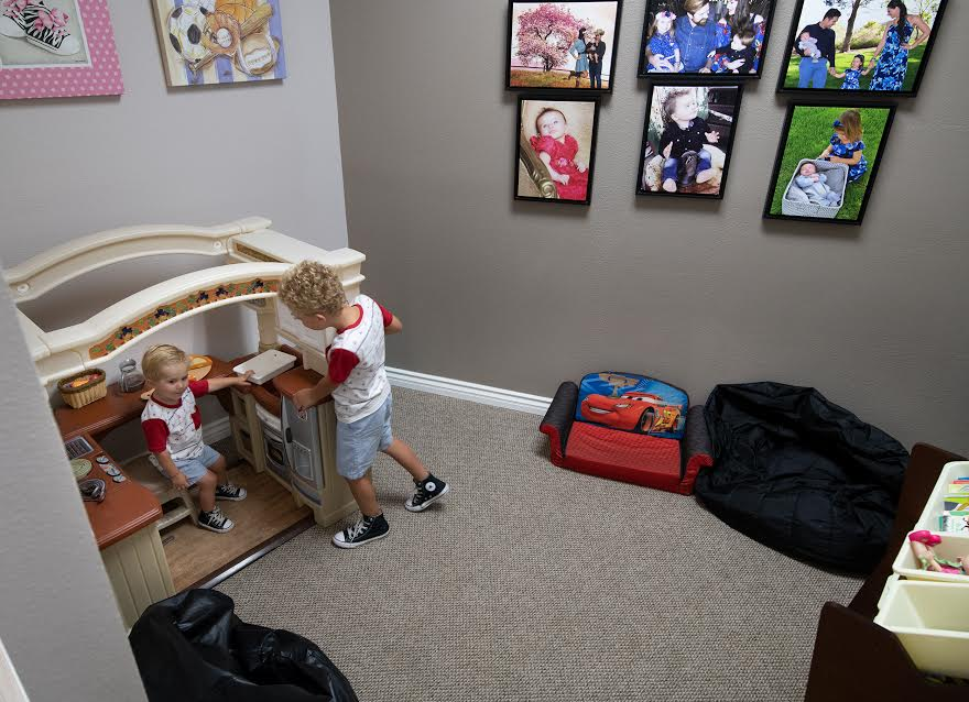 Kids playing in the playroom